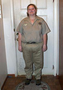 Jan. 15, 2004.  Three months after surgery.  261 pounds.