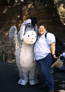 Heather and Eyore, Disneyland, May 2003