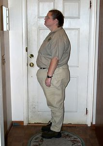 Dec. 20, 2003.  Eight weeks after surgery.  279 pounds