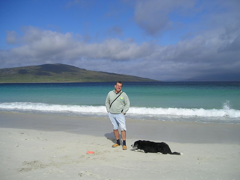 Yes the sea is that colour  on the Isle of Harris