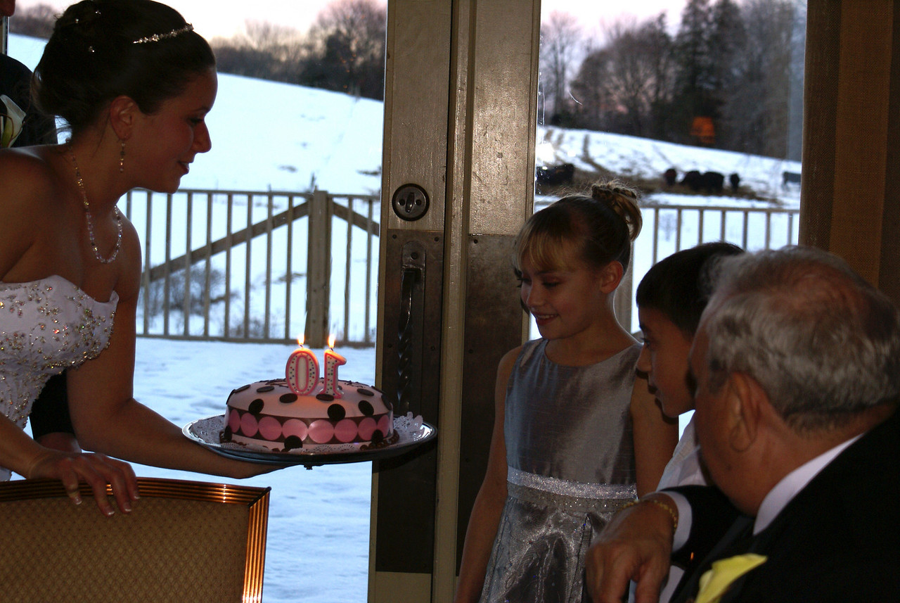 Flower girl Abigail celebrated her 10th birthday at the wedding.