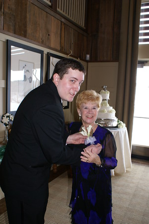 The bride's brother and paternal grandmother, Michael and Arlene.