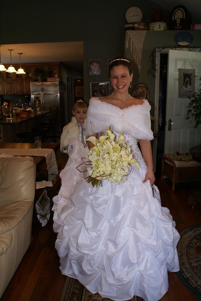 The beautiful bride Heidi.