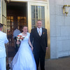The newly married bride and groom - Mr. and Mrs. Larsen.