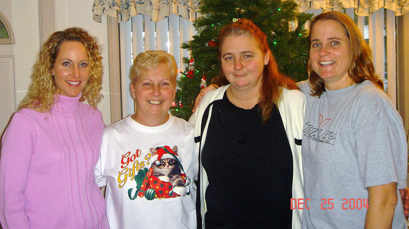 Mom and the girls, 2004