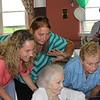 Teresa, Deb, Sylvia, Helen and Steve at Sylvia's 100th