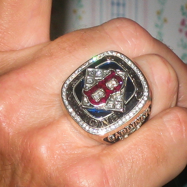 Allen wearing Red Sox World Series Championship Ring