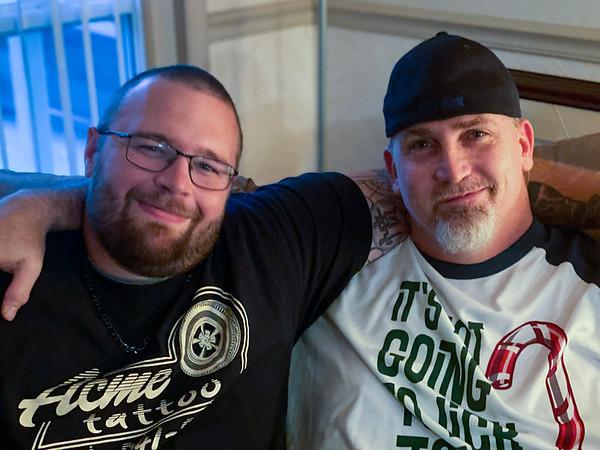 Brandon and Billy, Christmas, 2019