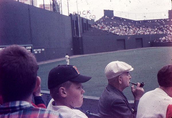 Allen at Fenway Park in the 1950's