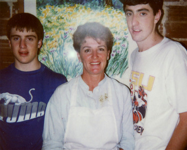 Helen Whittington, Nicholas and Jeremy Holt at the Briarpatch, At the Briarpatch Restaurant
