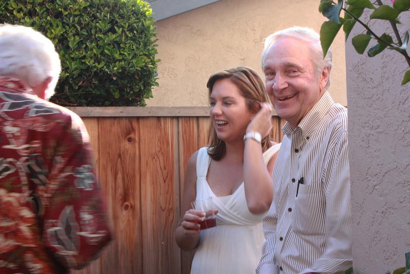 Kathy Toch talking to Tony's friends