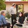 Sean H., Michael H., Jennifer Brown, Brian John on lounge chair