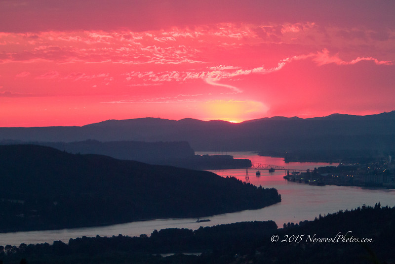 The same night the bobcat showed up.  Longview, WA on the right.  Looking up the Columbia River.