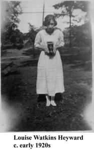 Louise W Heyward early 1920s