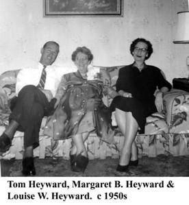 Margaret Tom & Louise Heyward c 1950s
