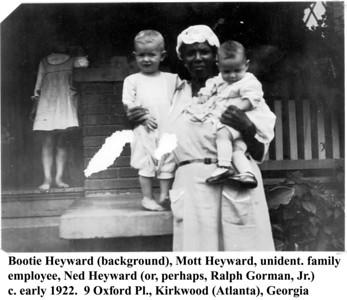 Heyward children w nanny c 1922