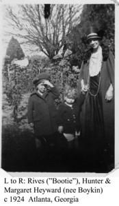 Margaret, Hunter & Bootie Heyward c 1924