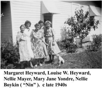 Margaret Louise & Nin 1940s