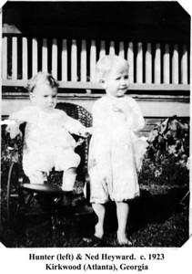 Hunter & Ned Heyward c 1923