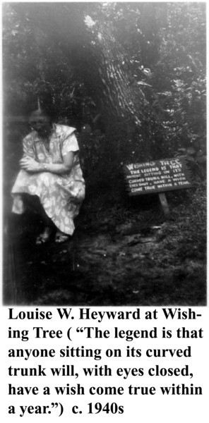 Louise Heyward at Wishing Tree c 1940s