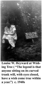 Louise Heyward at Wishing Tree c 1940s