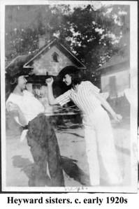 Heyward sisters c early 1920s