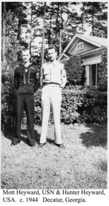 Mott & Hunter Heyward in Uniform c 1944