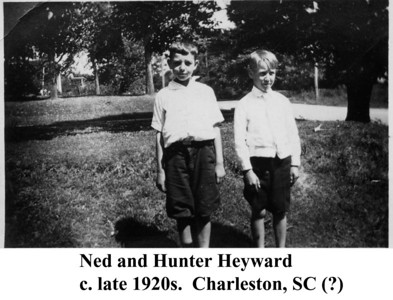 Ned & Hunter Heyward c late 1920s
