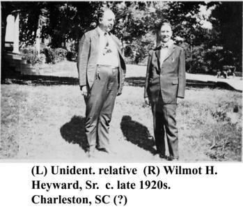 W H Heyward & relative c late 1920s