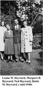 Louise Margaret Ned & Dottie 1940s