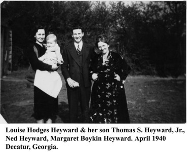 Louise Tommy Ned & Margaret Heyward 1940