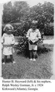 Hunter Heyward & Ralph Gorman c 1924 b