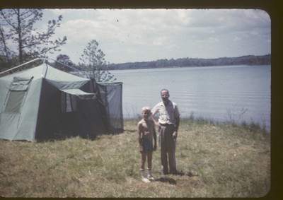 Billy and Dad camping 1962