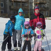 We enjoyed our second annual March week end skiing at Hidden Valley.  The conditions were very good--a bit slushy by Saturday afternoon, but it stayed below freezing on Sunday and the slopes, which we practically had all to ourselves, were nicely groomed.  All three girls did very well, with Adeline showing the most year-to-year improvement.