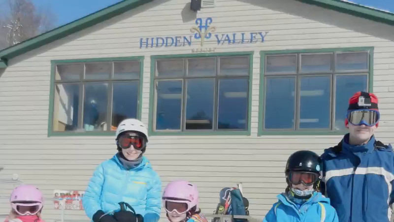We enjoyed two perfect days of skiing at Hidden Valley, making a total of 50 runs during the two days.  Much of the video credits go to Natalie and Chris (who used a GoPro) and to Jen, who captured several wipe-outs.