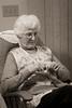 mom sewing at 82
