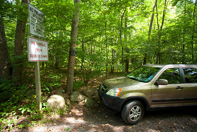 There really was only one parking space.  Good thing nobody else was there.  We started at the bottom of the mountain and went up to the top and along the ridge (which was the Appalachian Trail) and then back down.