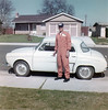 April 1962 - Dad in flight suit with Renault-7