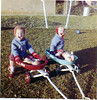 Girls in wagon (double exposure)-7