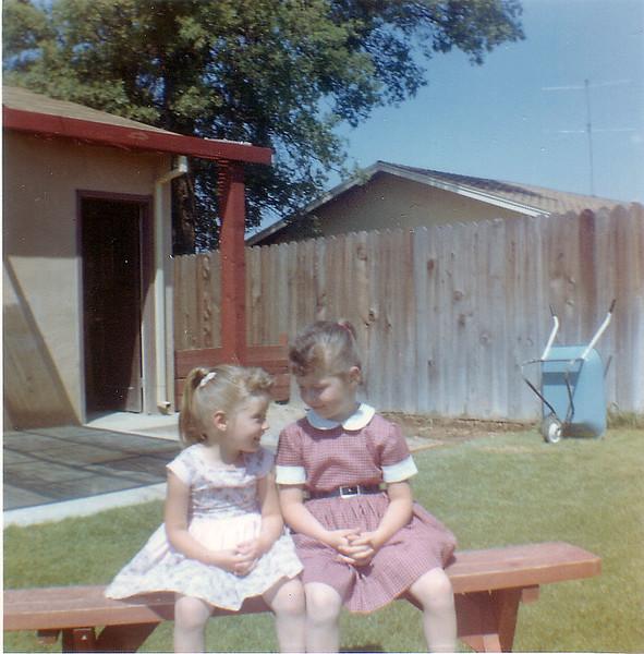 Girls on bench-4