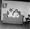 Christmas Eve 1959 Suzette 2 5 yrs Josie 1 yr