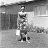 Outside 1st house 1960 (Mom at 115 lbs)