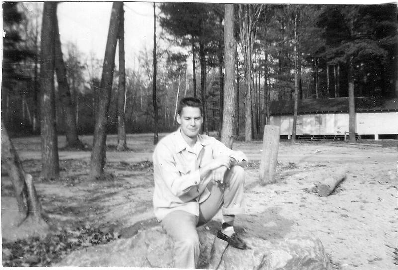 Ray at Old Beach Webster Lake 1955