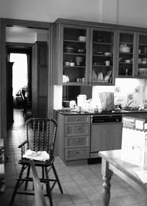 Photo #33 ~ 73 Stockton_Kitchen_B&W