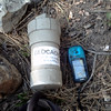 Found a geocache at Rock Crossing Trail.