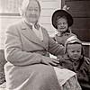 Ellen Olesen, Diane and Dennis Hoffman  1950