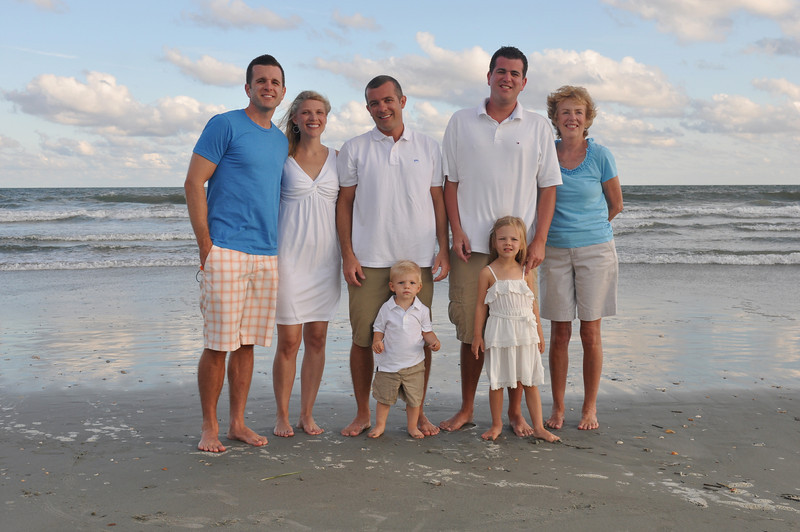 Holden Beach NC,   Bryce Lafoon photographs a family on vacation in Holden Beach.