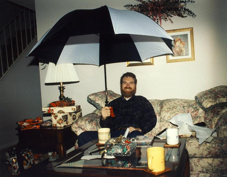Steve no longer needs an umbrella.