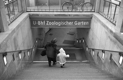 Taking the U-Bahn.