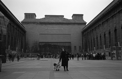 In front of the famous Pergamon Museum.